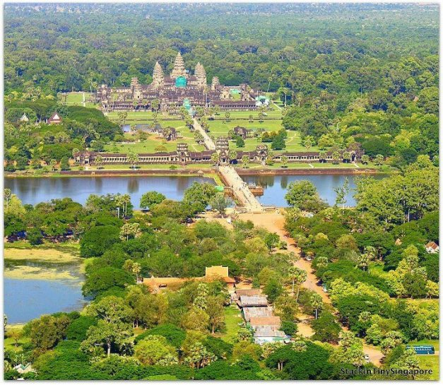 Angkor wat beautiful scenery