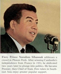 Norodom Sihanuk Addressing Khmer Indepence Day